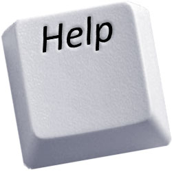an image of a help button